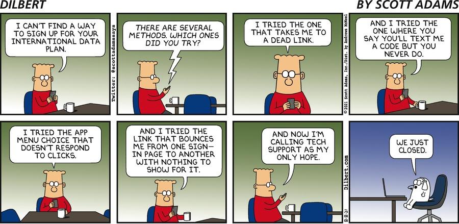 Tech Support Is Last Hope - Dilbert by Scott Adams