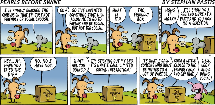 Rat:  I've finally reached the conclusion that I'm just not friendly or social enough.