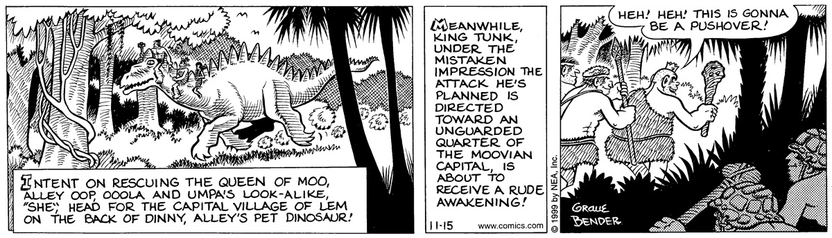 Alley Oop for November 15, 1999 Comic Strip