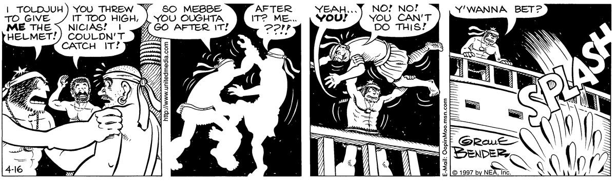 Alley Oop for Apr 16, 1997 Comic Strip
