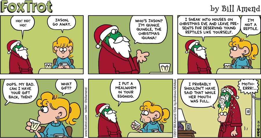 FoxTrot Comic Strip for December 24, 2017