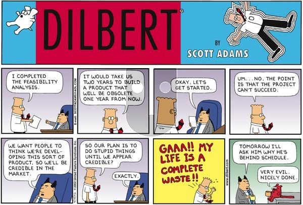 Dilbert on Sunday September 15, 2002 Comic Strip