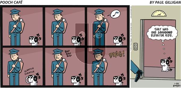 Pooch Cafe on Sunday January 20, 2013 Comic Strip