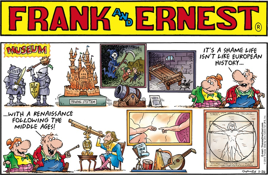 Frank and Ernest for May 26, 2013 Comic Strip