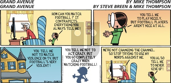 Grand Avenue on Sunday September 15, 2019 Comic Strip