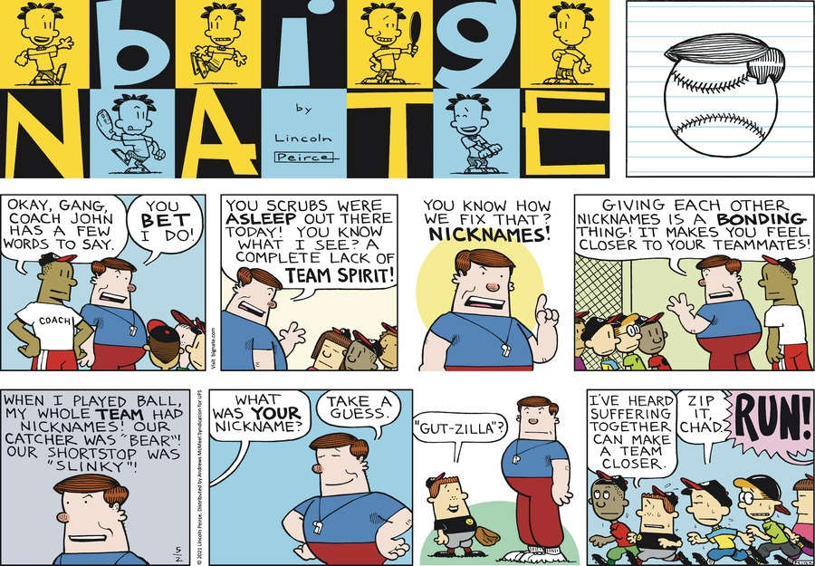 Big Nate by Lincoln Peirce on Sun, 02 May 2021