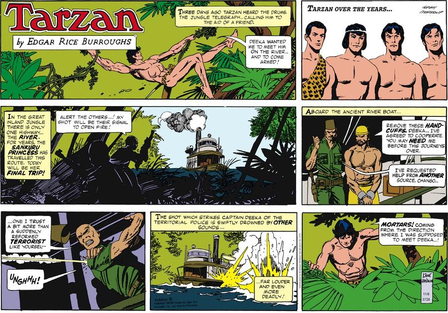 Tarzan Comic Strip for November 08, 2020