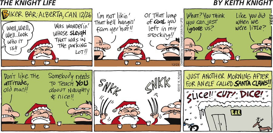 The Knight Life Comic Strip for December 23, 2012