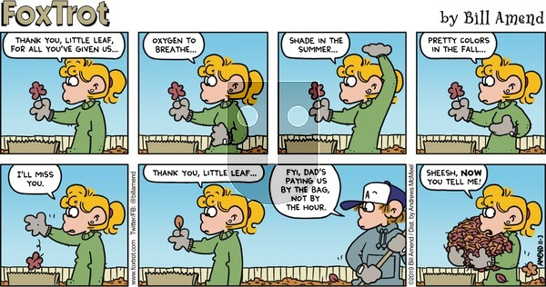 FoxTrot on Sunday November 3, 2019 Comic Strip