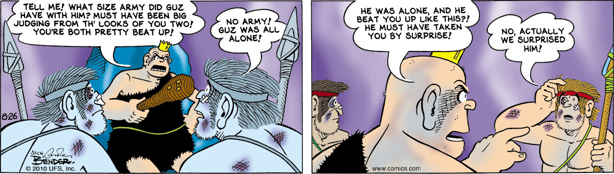 Alley Oop for Aug 26, 2010 Comic Strip
