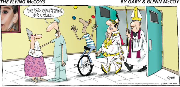 The Flying McCoys for Apr 29, 2012 Comic Strip