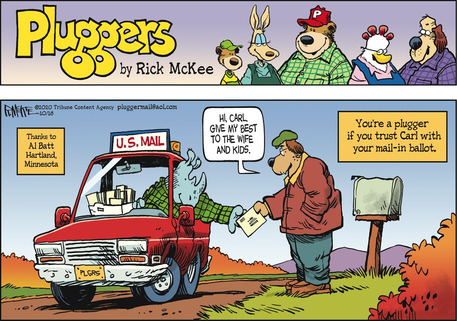 Pluggers Comic Strip for October 18, 2020