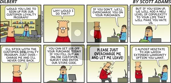 Dilbert on Sunday September 3, 2017 Comic Strip