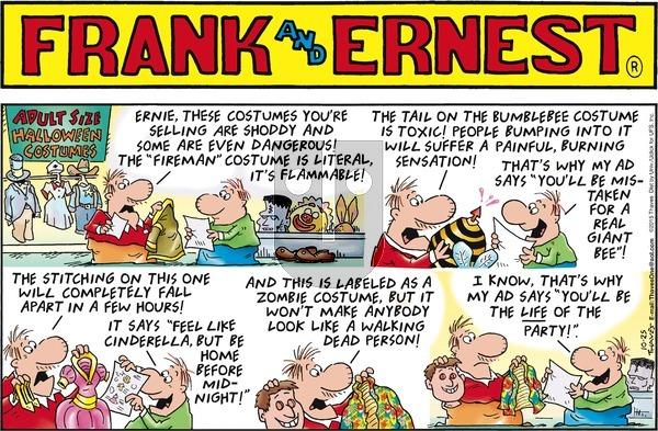 Frank and Ernest on Sunday October 25, 2015 Comic Strip