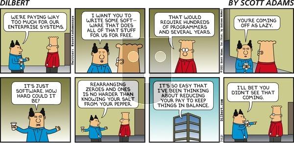 Dilbert - Sunday July 11, 2021 Comic Strip