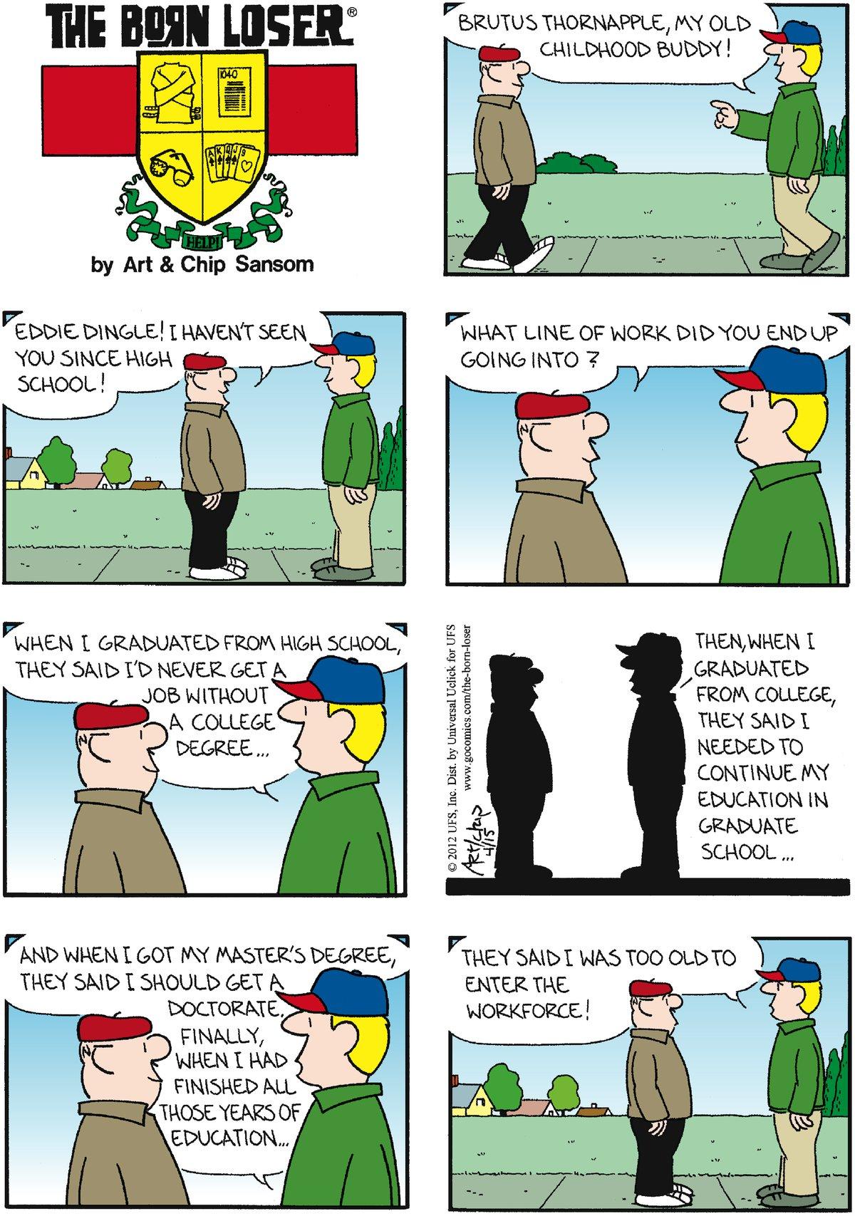 The Born Loser for Apr 15, 2012 Comic Strip