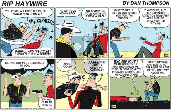 Rip Haywire on Sunday June 14, 2020 Comic Strip