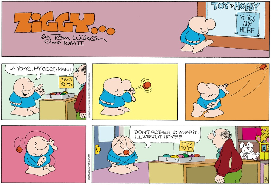 Ziggy Comic Strip for March 14, 1999