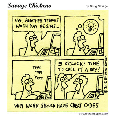 Savage Chickens Comic Strip for December 01, 2016