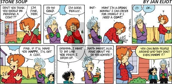 Stone Soup on Sunday April 17, 2011 Comic Strip