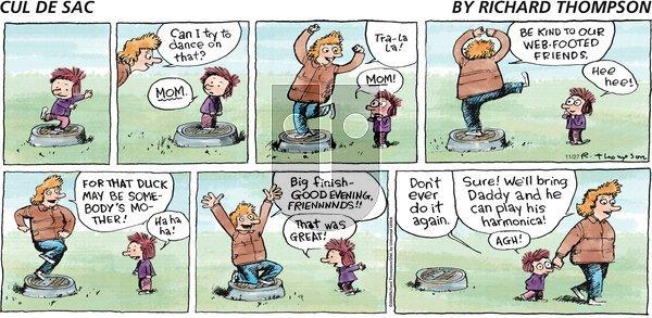 Cul de Sac on Sunday November 27, 2011 Comic Strip