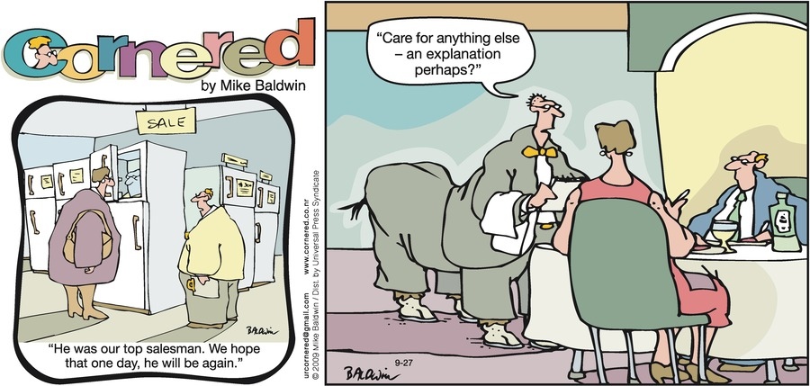 Cornered Comic Strip for September 27, 2009