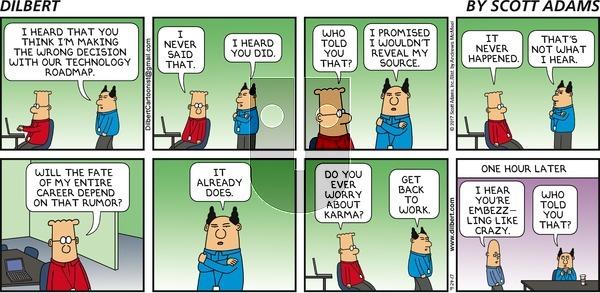 Dilbert on Sunday September 24, 2017 Comic Strip