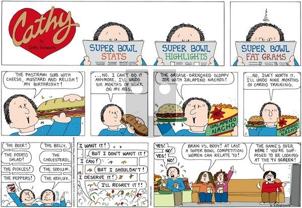Cathy on Sunday February 3, 2008 Comic Strip