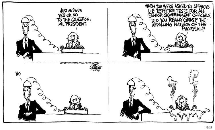 Pat Oliphant for Dec 29, 1985 Comic Strip