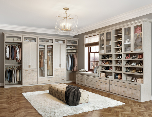 Creating a Zen-like zone in the master closet means having a place for everything and keeping everything in its place. Many are treating the closet en suite like a personal boutique on display.