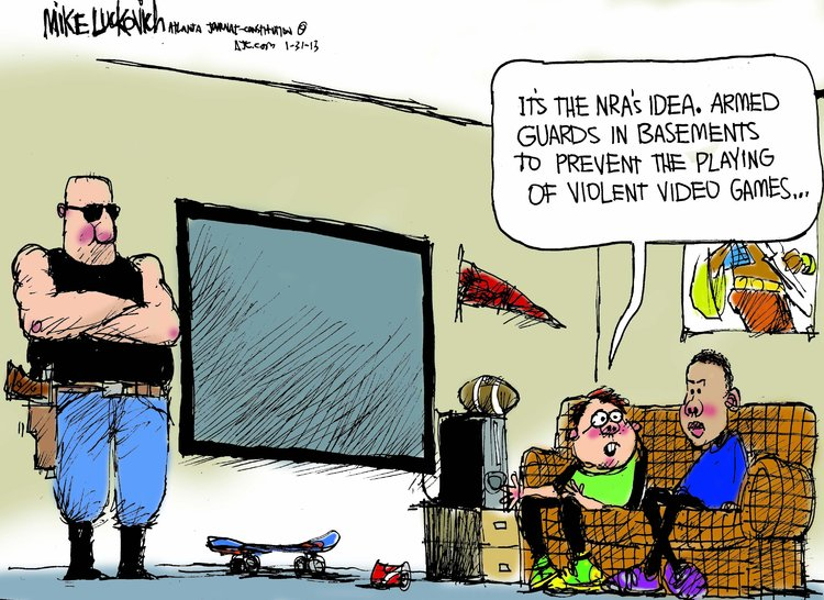 Mike Luckovich for Jan 31, 2013 Comic Strip