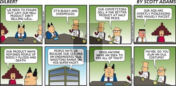 Dilbert - Sunday April 6, 2014 Comic Strip