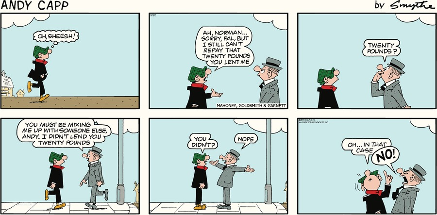 Andy Capp by Reg Smythe for September 22, 2019