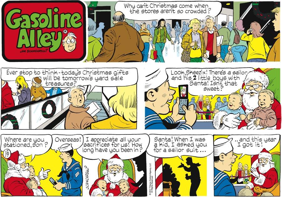 Gasoline Alley Comic Strip for December 17, 2017