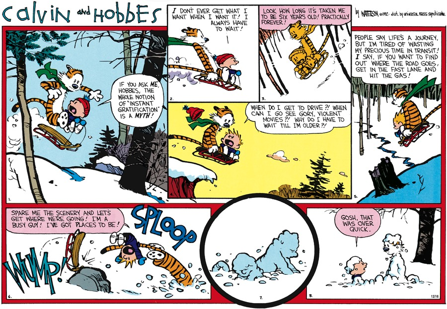 Calvin and Hobbes Comic Strip for February 02, 1992