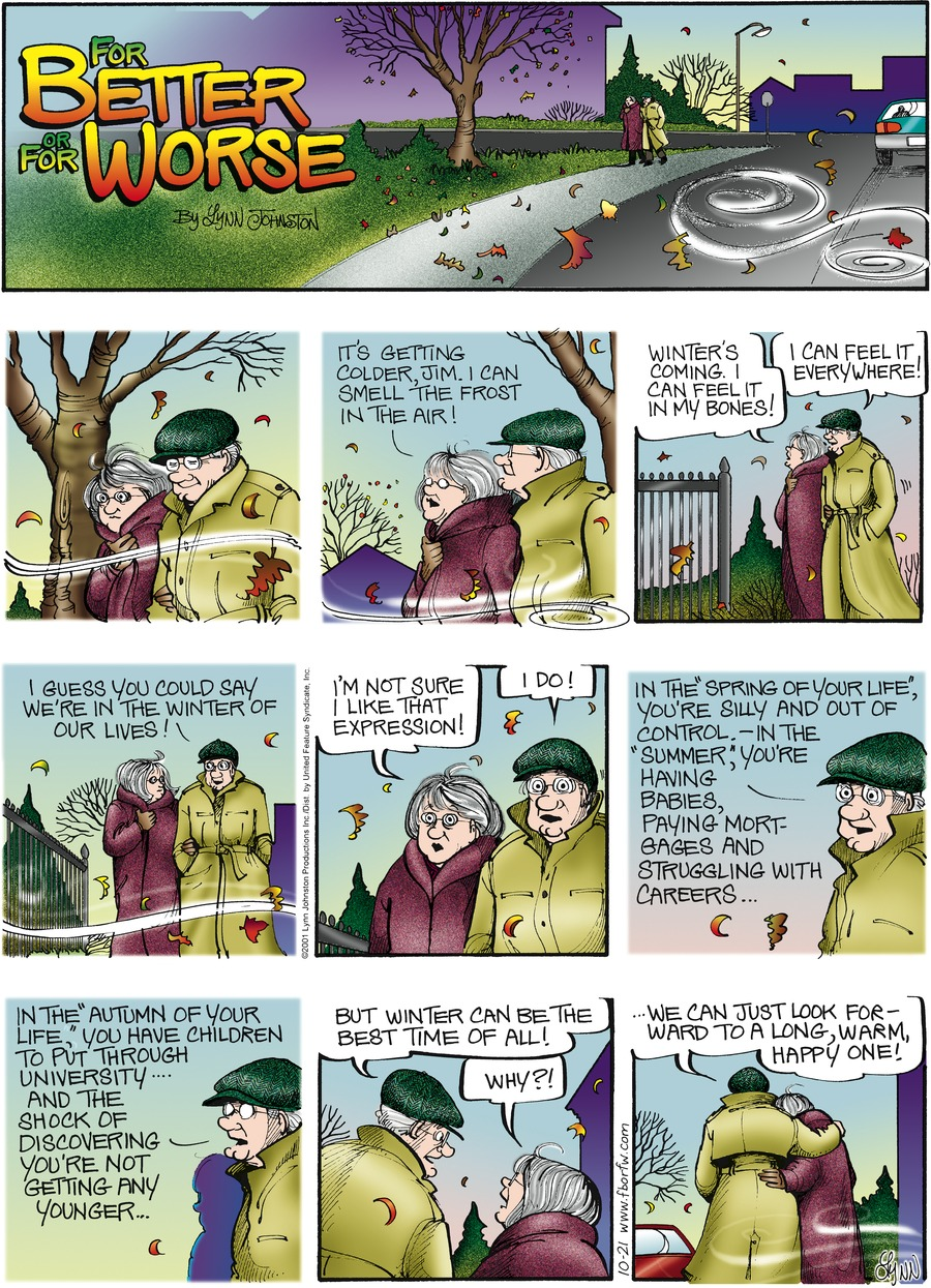 For Better or For Worse for Oct 21, 2001 Comic Strip