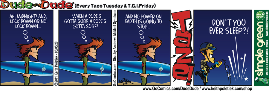 Dude and Dude Comic Strip for May 05, 2020