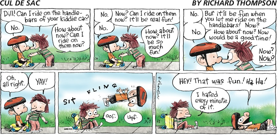 Cul de Sac Comic Strip for June 20, 2010
