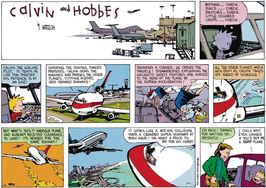 Calvin and Hobbes Comic Strip for September 25, 1994
