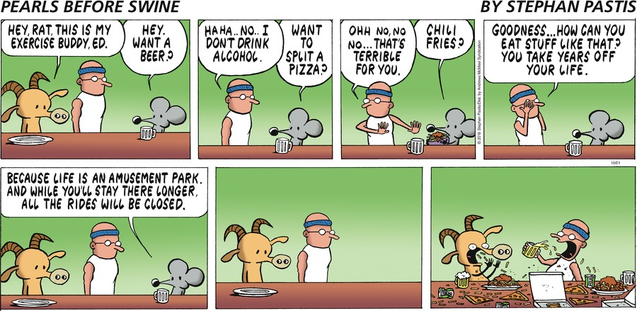 Pearls Before Swine by Stephan Pastis for October 21, 2018