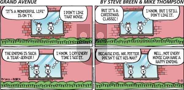 Grand Avenue on Sunday December 13, 2015 Comic Strip