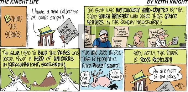 The Knight Life on Sunday August 17, 2014 Comic Strip