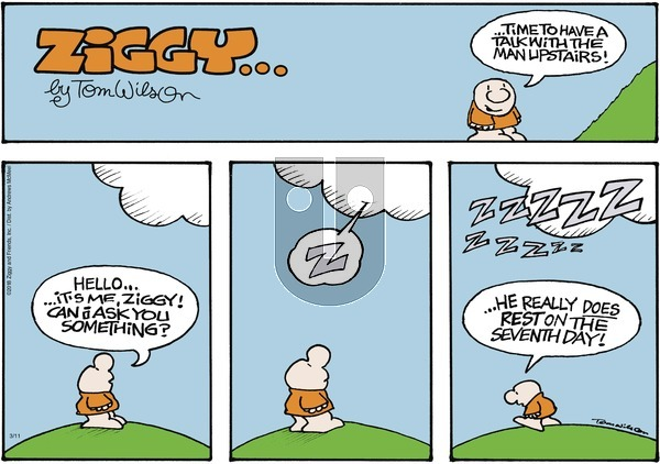 Ziggy on Sunday March 11, 2018 Comic Strip