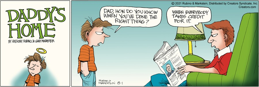 Daddy's Home Comic Strip for August 01, 2021