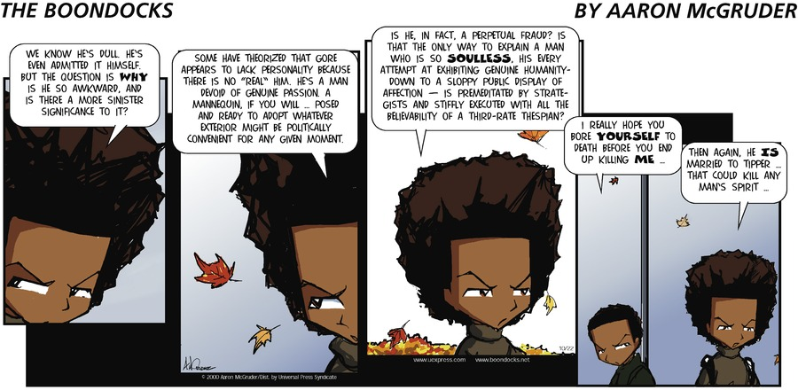 The Boondocks for Oct 22, 2000 Comic Strip