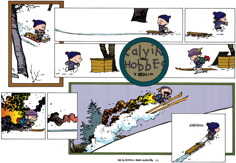 Calvin and Hobbes Comic Strip for January 02, 1994