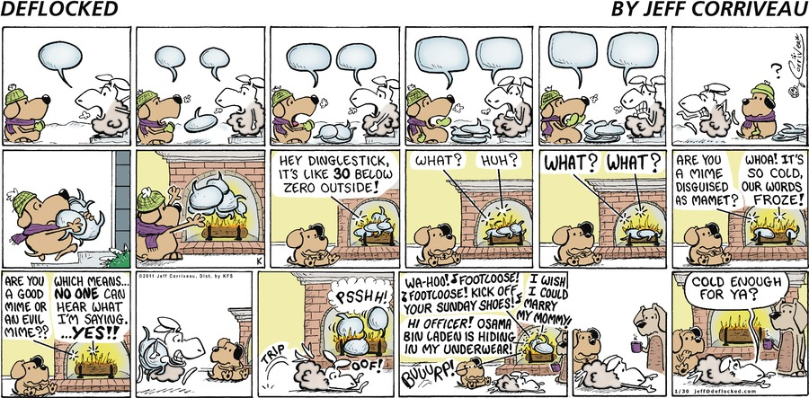 DeFlocked Comic Strip for January 30, 2011