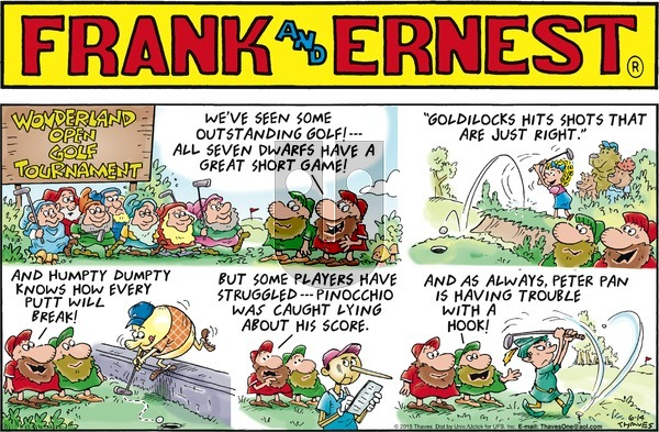 Frank and Ernest on Sunday June 14, 2015 Comic Strip