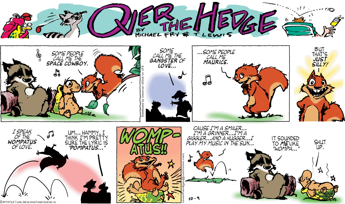 Over the Hedge Comic Strip for October 09, 2011