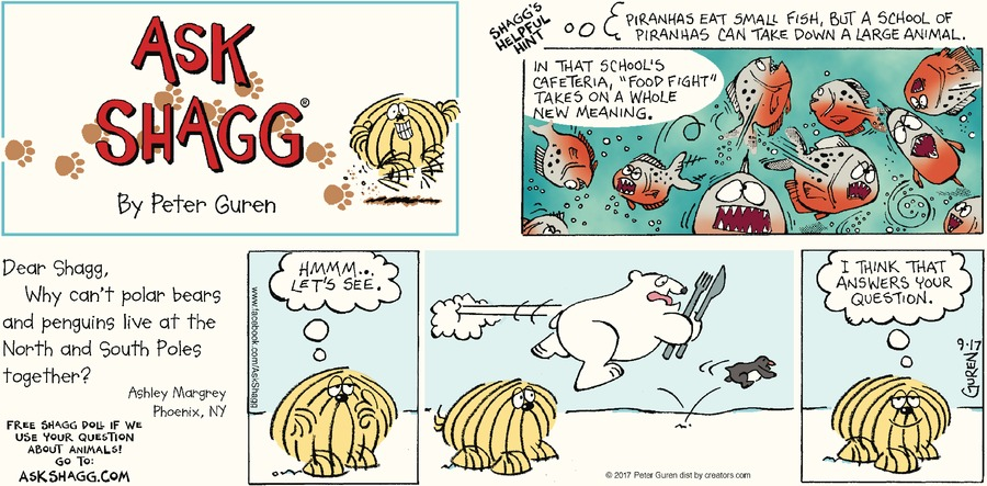 Ask Shagg for Sep 17, 2017 Comic Strip